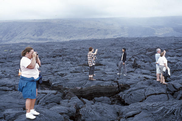 Tourists, Hawaiʻi Volcanoes National Park, 2006